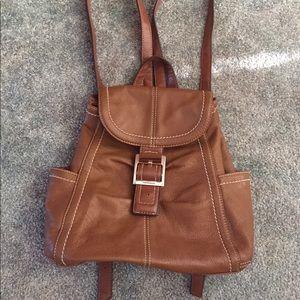Tignanello Genuine Leather Mini Backpack Brown